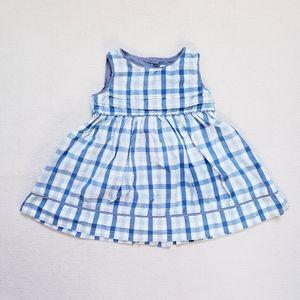 Gap Baby Girl's Blue & White Plaid Summer Dress